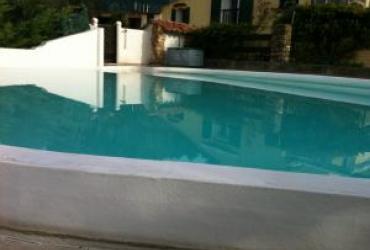 Agrandissement d'un débordement de piscine