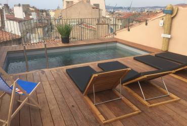 Construction piscine d'un hotel en rooftop à Toulon