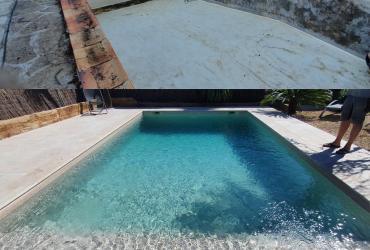 Rénovation piscine en pvc armé 3dtouch à six fours 83