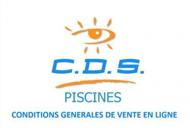 Conditions Générales de vente en ligne CDS PISCINES