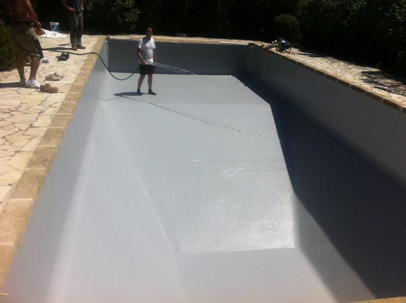 Changement d 39 un liner sur une piscine panneaux au beausset for Cout changement liner piscine