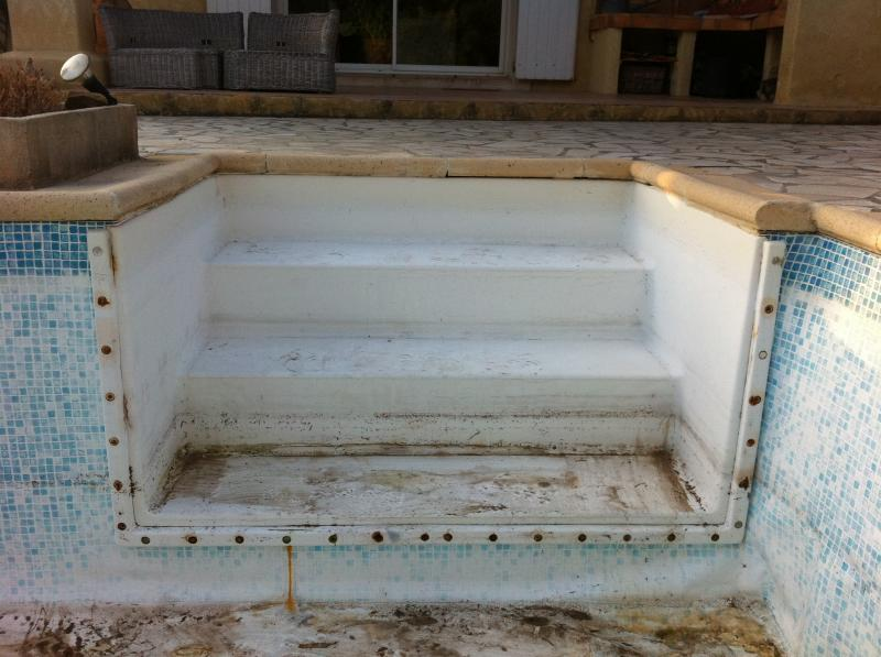 100 escalier piscine et couleur liner liner et pvc arm piscine harico - Pose d un liner pour piscine ...