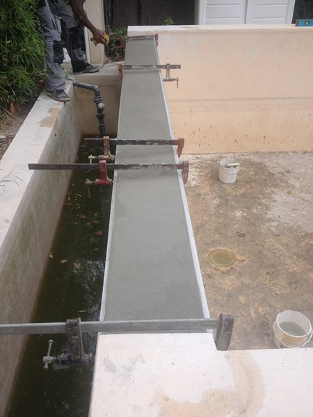 Modification d 39 une piscine ollioules cr ation d 39 une for Piscine ollioules