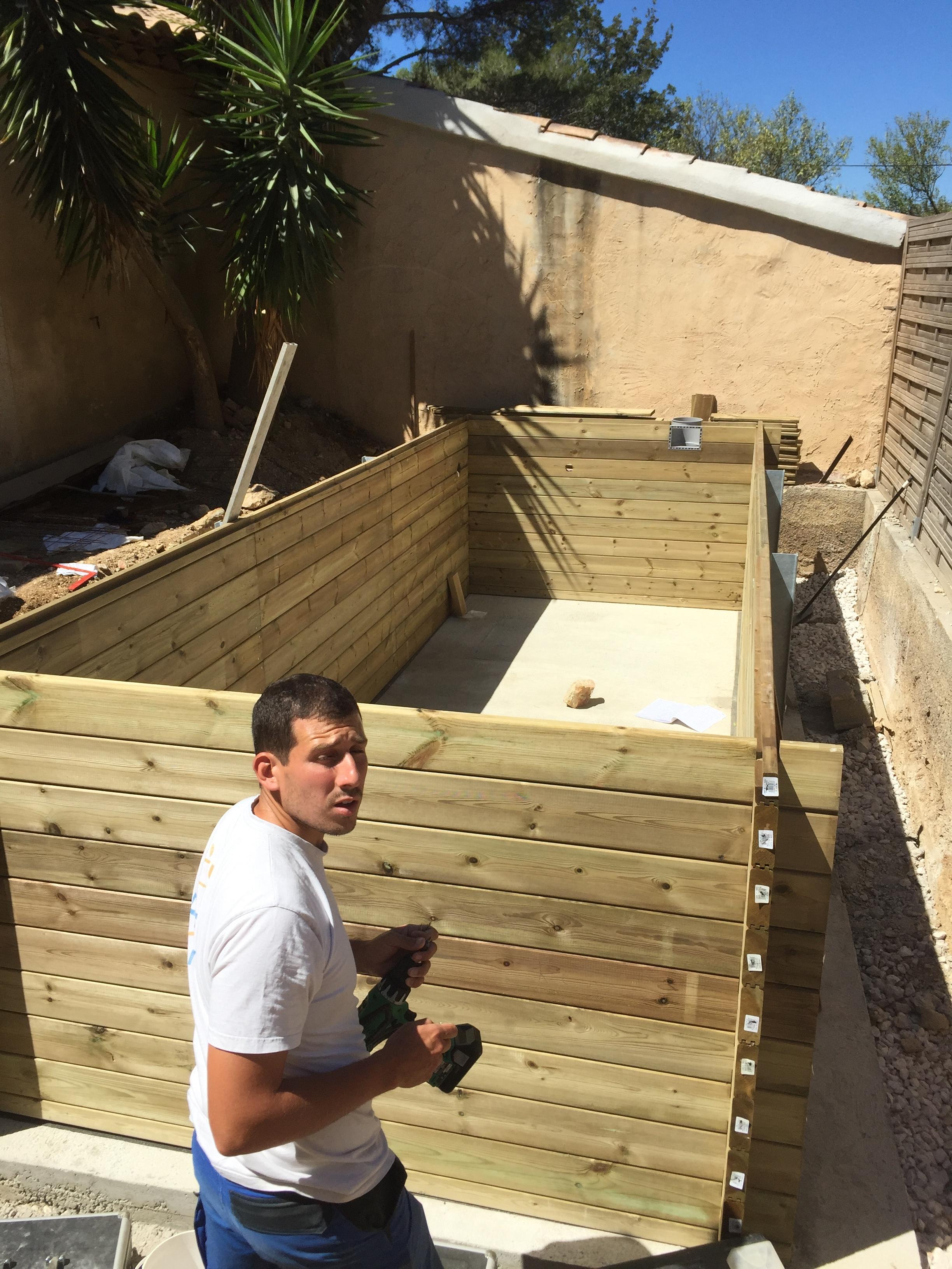 une petite piscine en bois Construction de piscine Toulon (Var) Sanary # Petite Construction En Bois